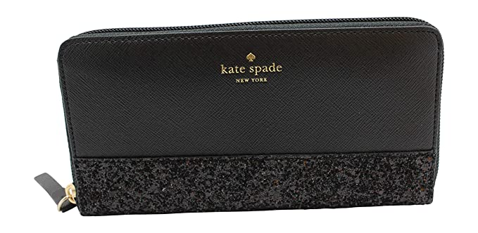 6c4d559ff Image Unavailable. Image not available for. Colour: Kate Spade Greta Court  Neda Zip Around Continental Wallet Glitter Black