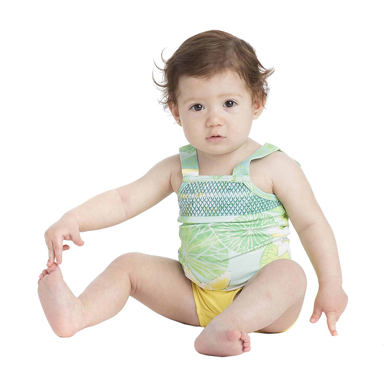Masala Baby Girls' Smocked Tankini Masala Baby Child Code SW-BBS0003-1