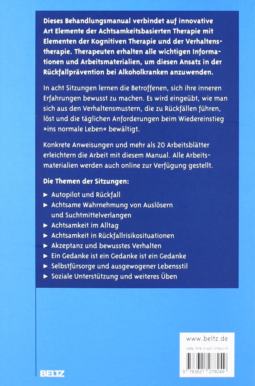 Achtsamkeitsbasierte Rückfallprävention bei Substanzabhängigkeit ...
