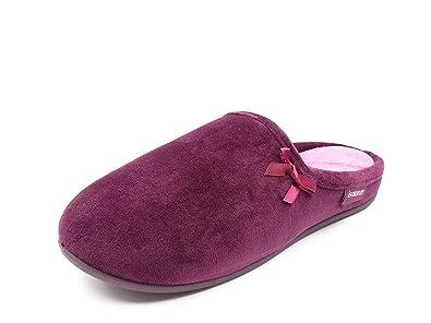 Zapatillas Mujer Andar por casa en paño ISOTONER, Color Morado, Planta ergonomica y Suela