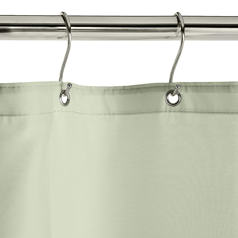 Bonhause Cortina de Ducha Geom/étrico Verde Moderno Cortina de Ba/ño de Poli/éster Impermeable Antimoho Cortina Ducha con 12 Ganchos 180 x 180 cm