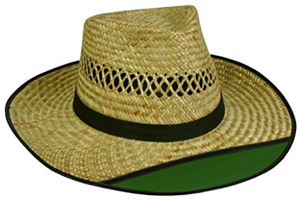 Amazon.com  Outdoor Cap LD-902EX Beach Bum 2 Straw Hat with Green ... 1df4a960648