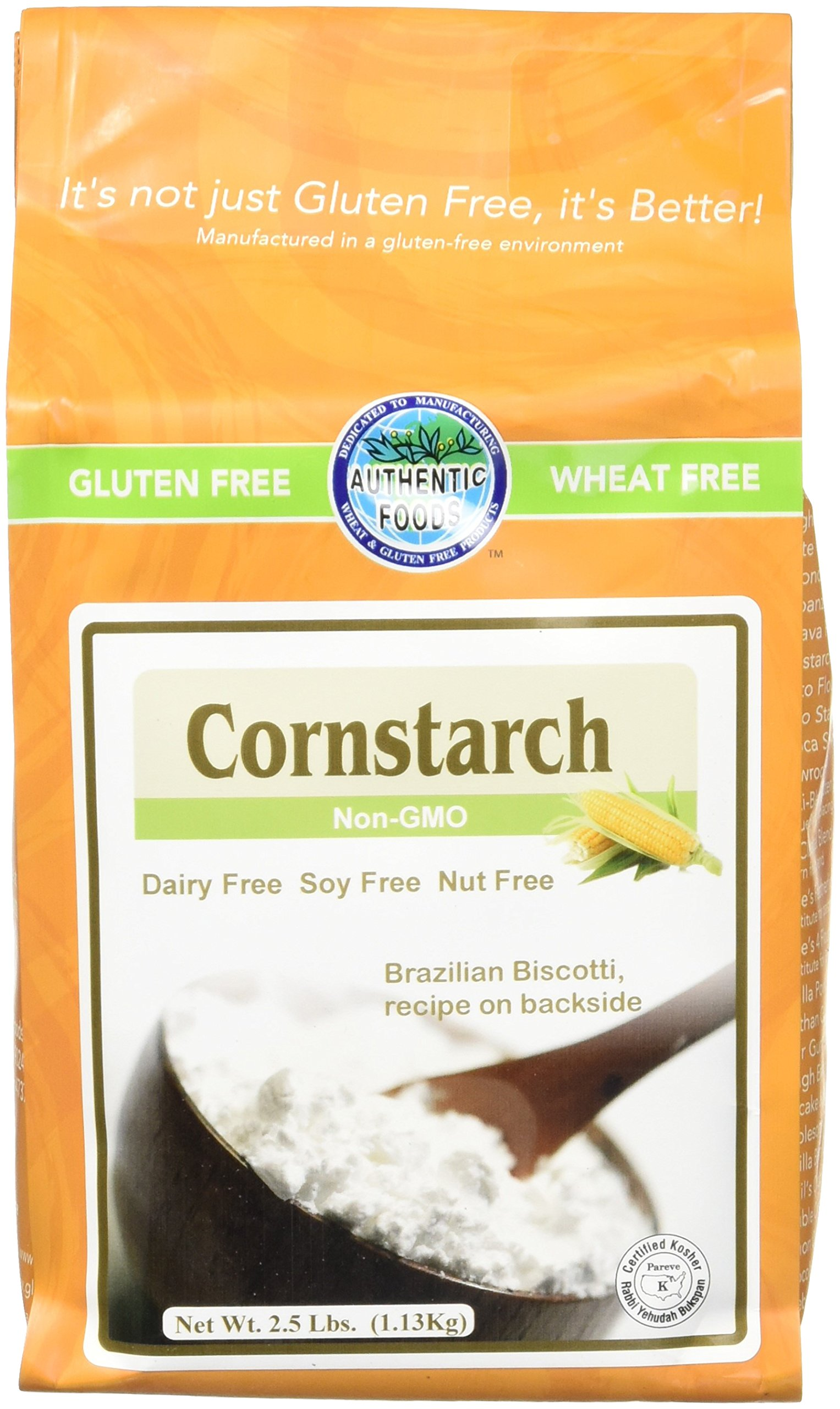 Authentic Foods Cornstarch, 2.5 Pound