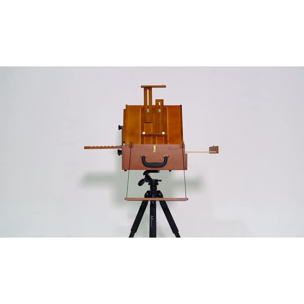 MEEDEN-Ultimate-Pochade-Box-with-Aluminum-Tripod-Combo-Lightweight-French-Box-Easel-for-Plein-Air-Painting-All-in-One-DesignMake-Outdoor-Painting-Easy-and-Fun