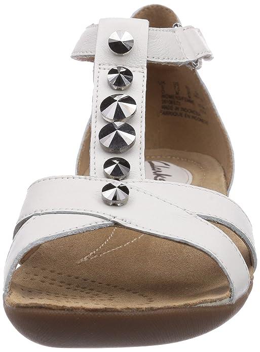 b2c2adc96419 Clarks Women s Raffi Scent Open Toe Sandals White Size  42 EU (8 UK)   Amazon.co.uk  Shoes   Bags