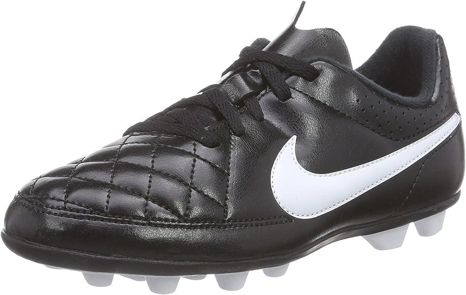 f523bc244d02 Nike Kids Jr Tiempo Rio II FG-R Black White Soccer Cleat 1 Kids