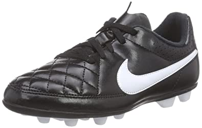 newest collection 1f5da c2911 Nike Unisex-Kinder Junior Tiempo Rio II FG-R Fußballschuhe Weiß (Black
