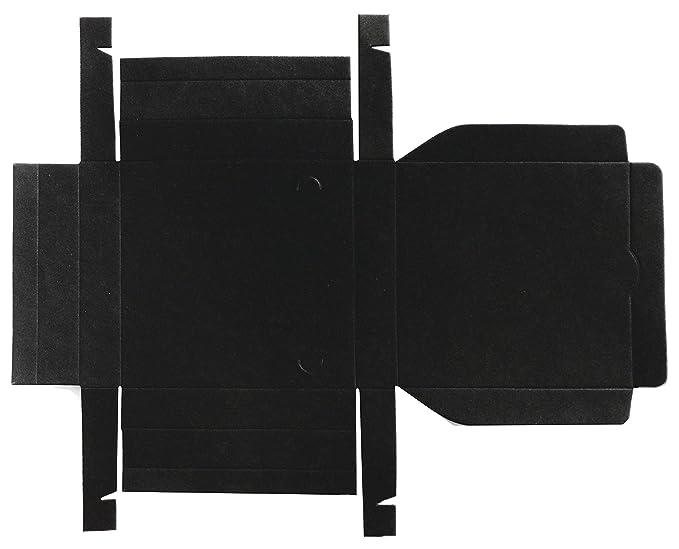 Caja para regalo automontable, set 25 unidades 14 x 14 x 2,5 (Negro): Amazon.es: Oficina y papelería