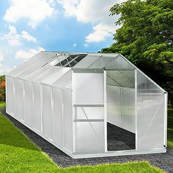 Aluminium Gewachshaus Mit Stahlfundament 17 2 M Alu Gartenhaus
