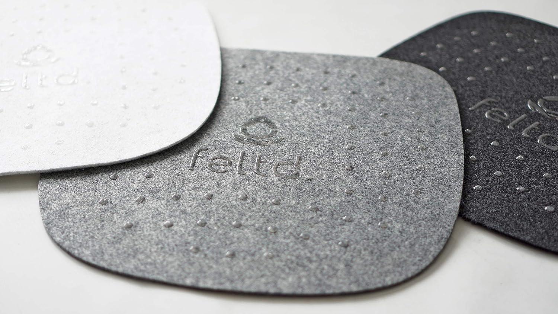 Eco Filz Kissen geeignet f/ür Vitra Eames Armchair DAW,DAR,DAX,RAR,DAL - gepolstert mit Antirutschbeschichtung Graumeliert Feltd