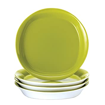 Rachael Ray Dinnerware Round \u0026 Square 4-Piece Salad Plate Set  sc 1 st  Amazon.com & Amazon.com: Rachael Ray Dinnerware Round \u0026 Square 4-Piece Salad ...