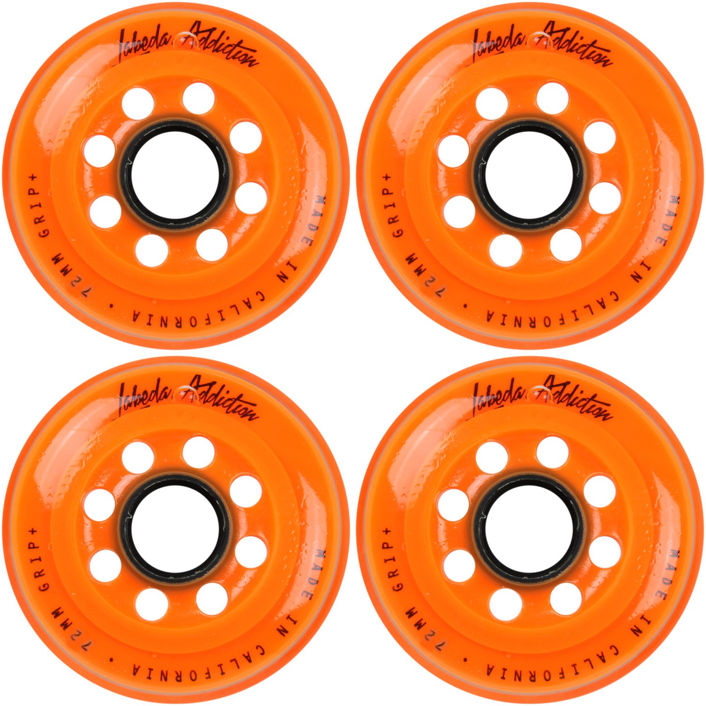 Labeda Inline Roller Hockey Skate Wheels Addiction Orange 72mm SET OF 4