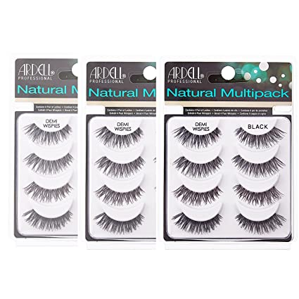 b609c1af885 (3 Pack) ARDELL Professional Natural Multipack - Demi Wispies Black: Amazon. co.uk: Beauty