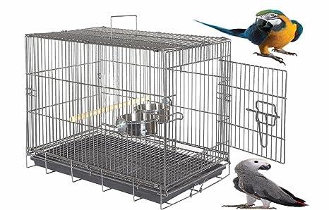Gran Liberta 77 cm transportador de loros plegable jaula de ...