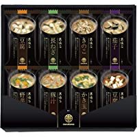 Marukome Freeze-dried Miso Soup (8 types / 5 meals each, 40 meals in total) [Japan Import]