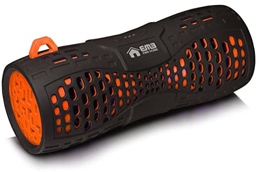 loud bluetooth speakers. emb es900bt water resistant super loud portable bluetooth speaker - black on orange speakers o