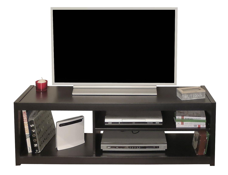 Berlioz Creations Slone Noir Meuble TV Panneaux de particules Noir 125 -0 x 36 -0 x 41 -0 cm