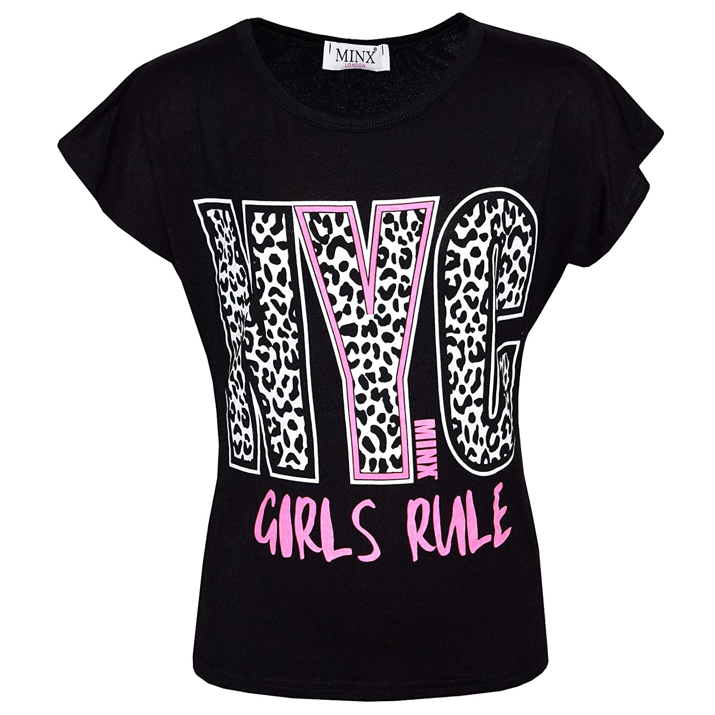 A2Z 4 Kids/® Kinder M/ädchen Good Vibes Blumenmuster Fashion T-Shirt Stilvolle Tops Neu Alter 7 8 9 10 11 12 13 Jahre