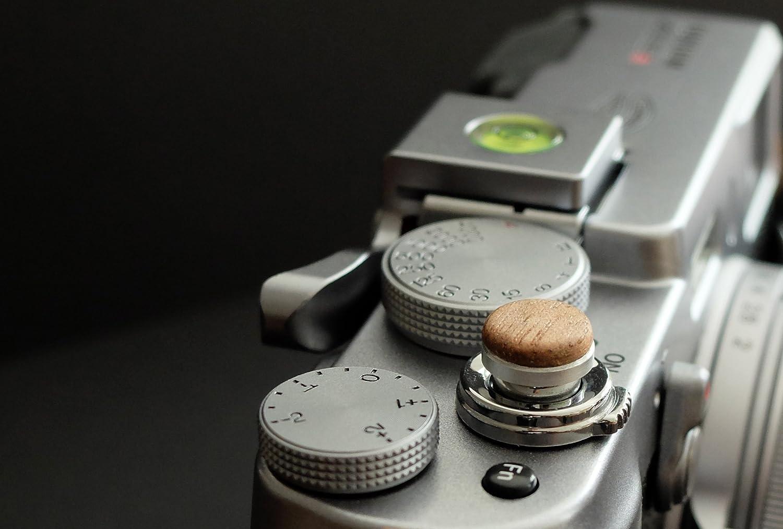 X-E2S et tous les appareils photos avec la bouche filetage conique X-E1 Fuji X100 X100T X-Pro2 X100S Soft D/éclencheur en aluminium// bois- Noyer X10 X-Pro1 X20 plat, 10mm X30 pour Leica M-Serie X-E2
