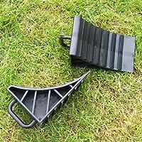Car Wheel Chocks Rubber Reversing Slip Pads Stoppers