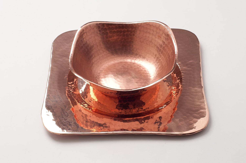 16 inch square BF-16 Hand Hammered 100/% Pure Copper Sertodo Copper Flat Earth Centerpiece