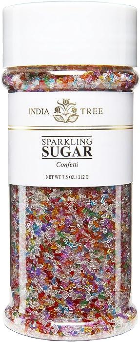 India Tree Sugar, Confetti, 7.5-Ounce (Pack of 4)