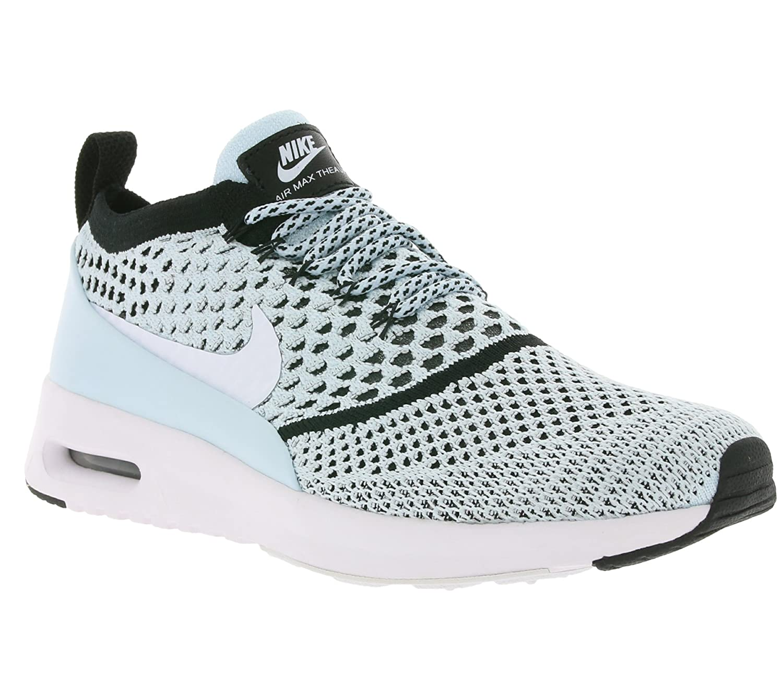 Glacier bleu blanc noir 400 Nike Air Max Thea Ultra Flyknit, paniers Femme