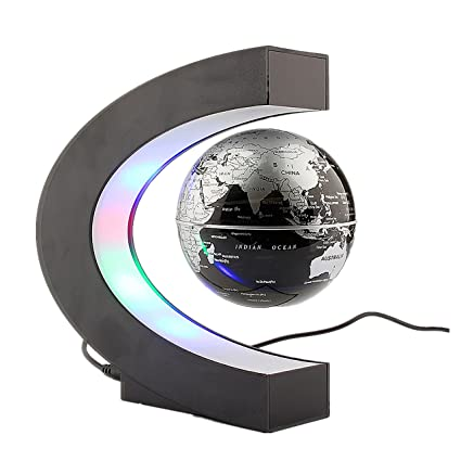 Magnetic levitation floating globe world map with led light desktop magnetic levitation floating globe world map with led light desktop decorations unique geography gifts gumiabroncs Gallery