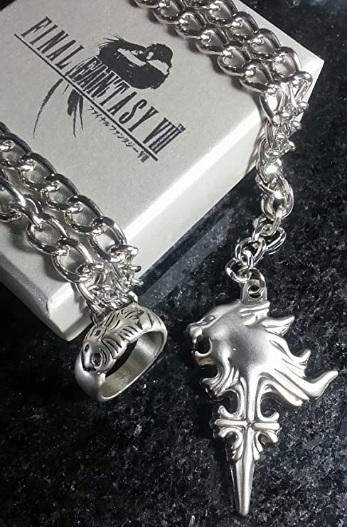 Amazon final fantasy viii squall griever necklace ring ff8 final fantasy viii squall griever necklace ring ff8 dissidia cloud serah lightning cosplay anime aloadofball Image collections