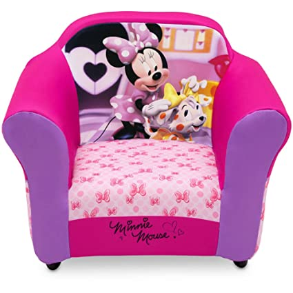 Astonishing Disney Minnie Mouse Toddler Cozy Plastic Frame Sofa Upholstered Chair For Girls Machost Co Dining Chair Design Ideas Machostcouk