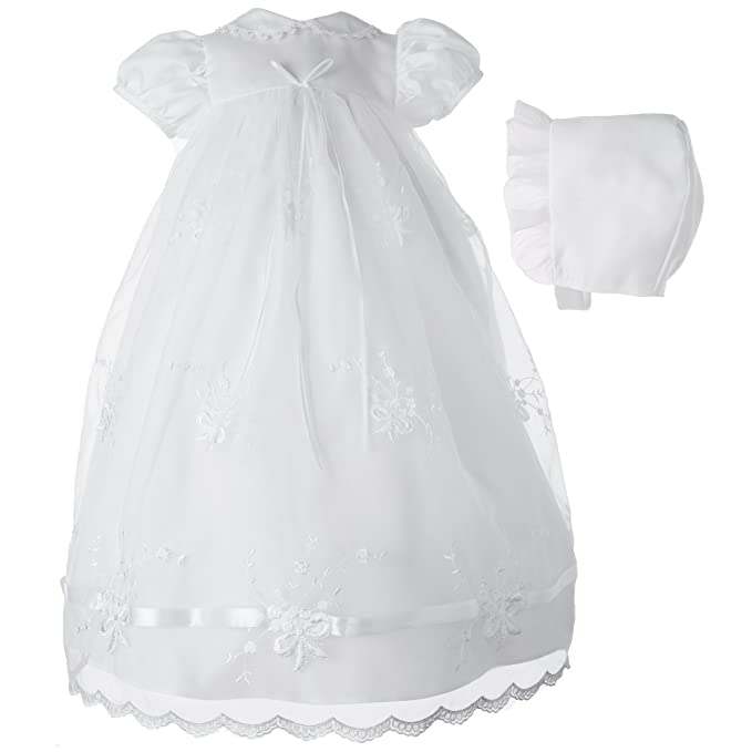 3e2815e6f Lauren Madison baby girl Newborn Christening Baptism Embroidered Gown ,  White, 6-9 Months: Amazon.ca: Clothing & Accessories