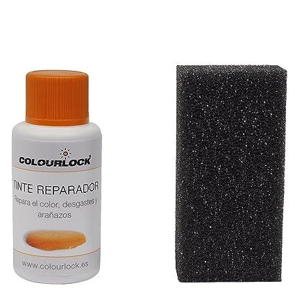 COLOURLOCK Tinte reparador Cuero/Piel F046 (Gris Antracita), 30 ml restaura el Color del Cuero en Coches, sofás, Ropa, Bolsos