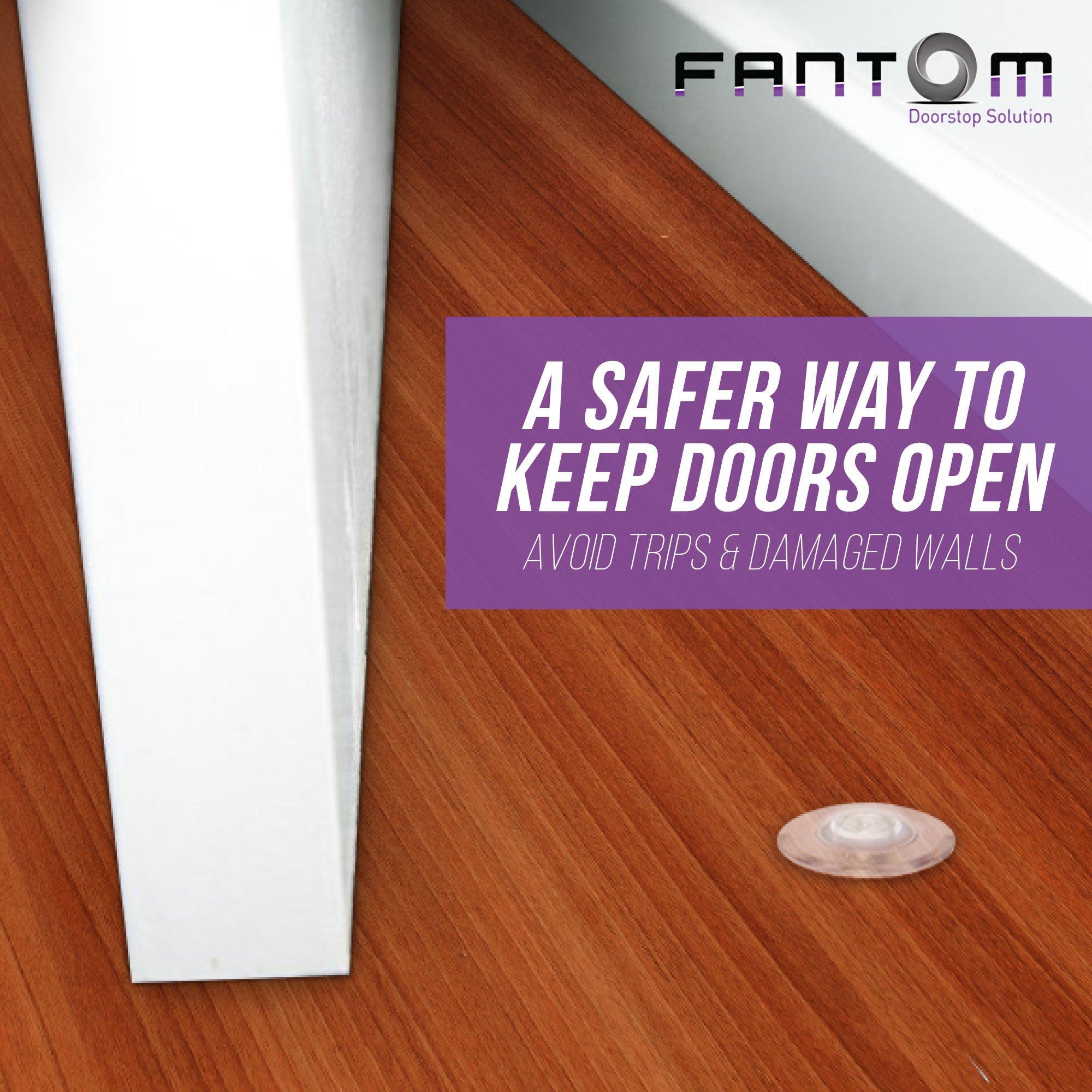Fantom Magnetic Door Stop - Heavy Duty Door Stopper - Easy to Install Door holder Doorstop for Your Home, Office, Business or School (Fantom Door Stop)