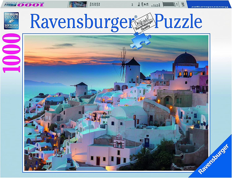 Ravensburger-19611 1 Puzzle 1000 Piezas Santorini, Multicolor ...
