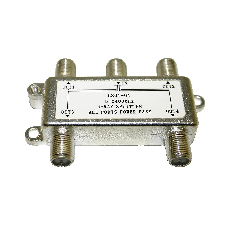 Homevisionテクノロジー4 Way Splitter for 5 2400 MHzシルバー( dgs0104 ) B00PZIMULO