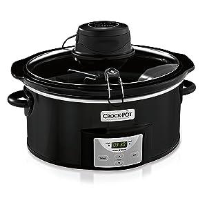 Crock-Pot SCCPVC600AS-B 6-Quart Digital Slow Cooker with iStir Stirring System, Black, 6 Qt