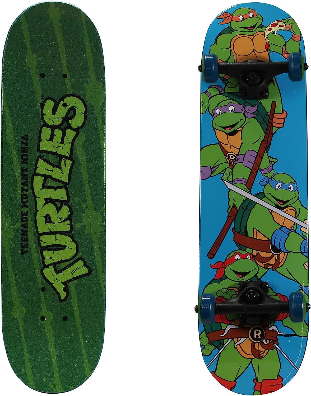 """PlayWheels Teenage Mutant Ninja Turtles 28""""Skateboard, Turtle Time"""