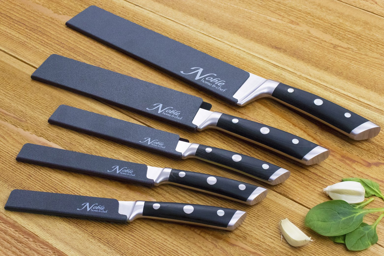 5-Piece Universal Knife Edge Guards are More Durable, BPA-Free, Gentle on Your Blades, and Long-Lasting. Noble Home & Chef Knife Covers Are Non-Toxic and Abrasion Resistant! (Knives Not Included) by Noble Home & Chef (Image #7)