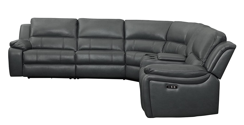 Amazon Com Homelegance Falun 120 Power Reclining Sectional Sofa