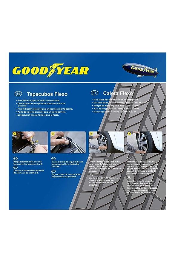 Amazon.com: Good Year GOD9028 - Set of 4 Universal Hubcap ...