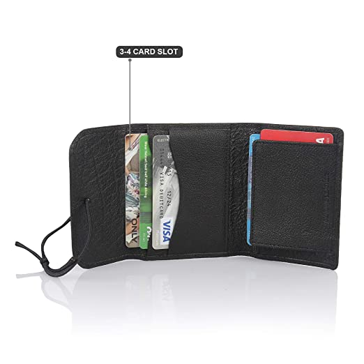 6d58e6c3182e Image Unavailable. Image not available for. Color: STYLER KING Men's Genuine  Leather Wallet Credit Card Holder ...