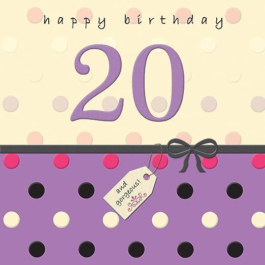 Twizler 20th Tarjeta de cumpleaños con acabado de cristal ...