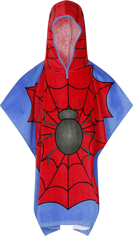 Spiderboy Quality 100/% Cotton Boys Girls Kids Childrens Hooded Poncho Swimming Bath Towel