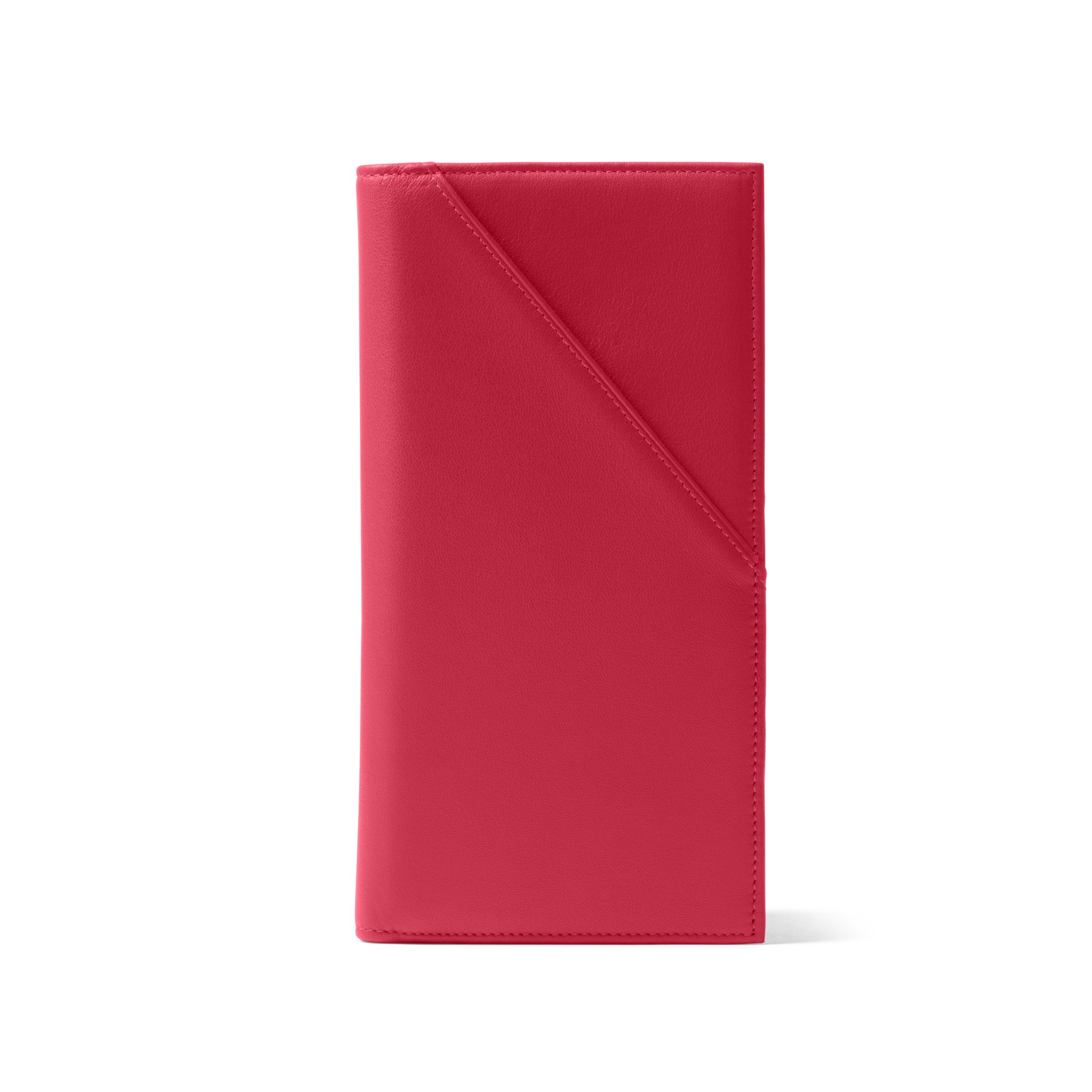 Travel Document Holder - Full Grain Leather Leather - Red Apple (red)