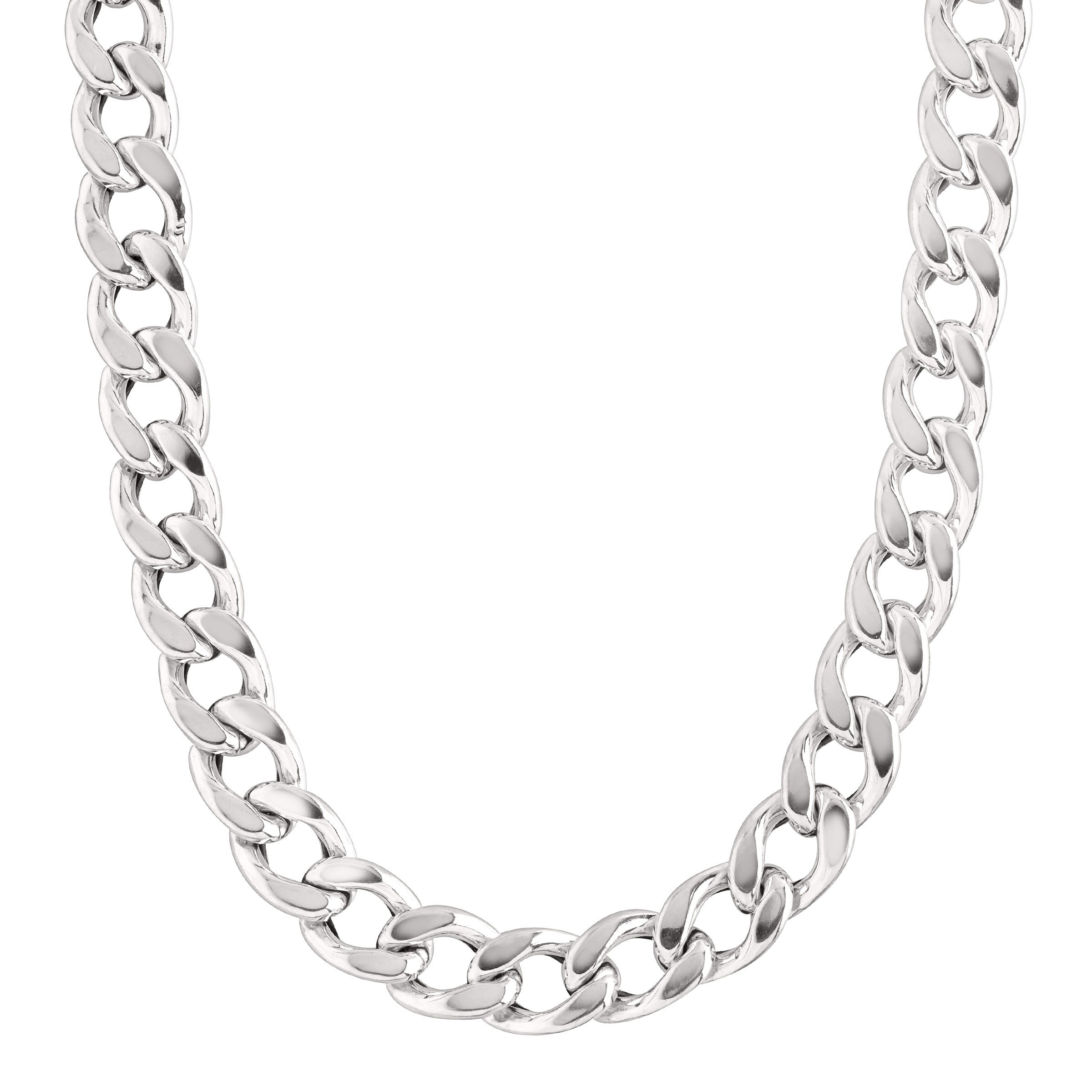 Large Sterling Silver Link Chain Necklace For Women 18