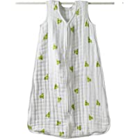 aden + anais Cozy Muslin Sleeping Bag, Mod About Baby, Frog, Large