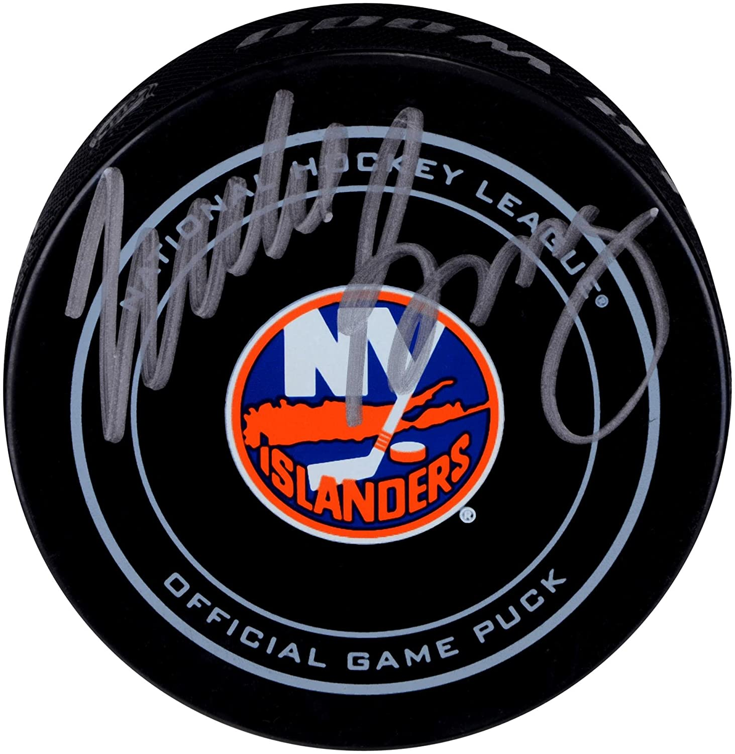 Mike Bossy New York Islanders Autographed Official Game Puck - Fanatics Authentic Certified - Autographed NHL Pucks