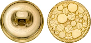product image for C&C Metal Products 5172 Sea Bubble Metal Button, Size 24 Ligne, Gold, 72-Pack