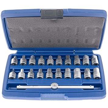 Öldienst Schlüssel Satz Öl Ablassschraube Werkzeug 8-14 mm 4 kant 6 tlg Einsatz
