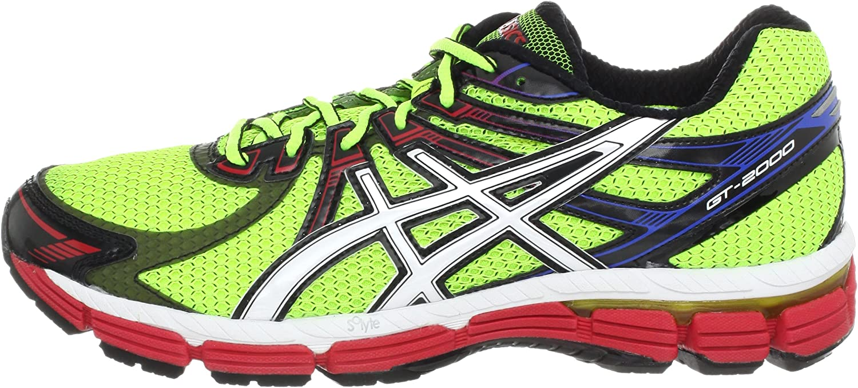 Asics GT-2000 Trail - Zapatillas de Running de sintético para Hombre Lime/White/Red, Color, Talla 44: Amazon.es: Zapatos y complementos